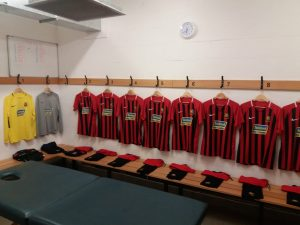 Photo of kit in changing room